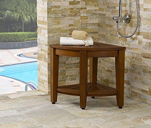 Purchase a Teak Corner Shower Bench - Teak furniture
