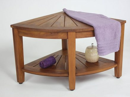 Teak Corner Shower Seat for your bathroom - Teak Shower Bench ...