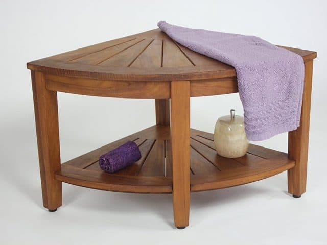 Teak Corner Shower Seat for your bathroom - Teak furniture