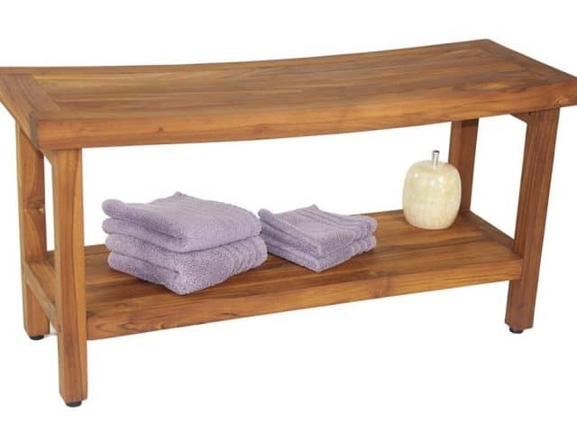 teak bench for shower