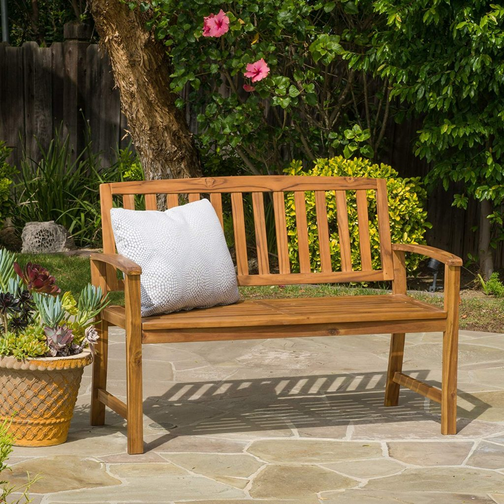 Tamika Teak Finish Acacia Bench
